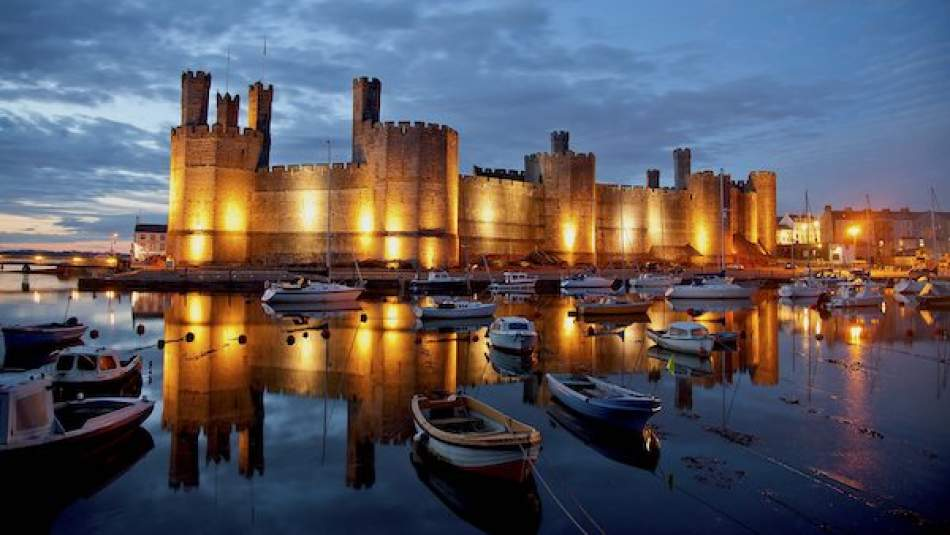 Caernarfon Castle, 'strategic and symbolic importance'. The interview