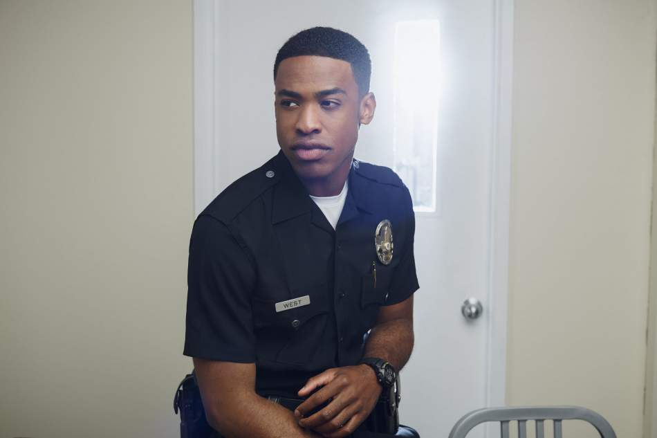 Tv series The Rookie, interview with actor  Titus Makin